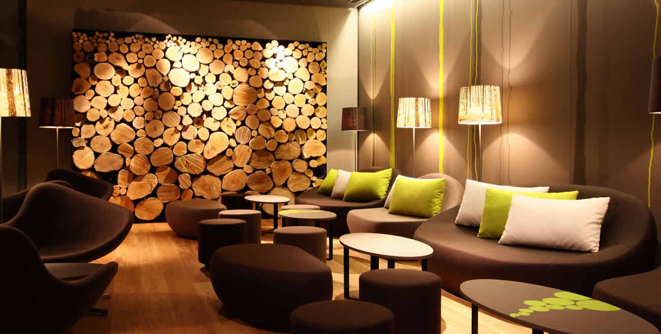 Shady Tree Forest Floorlamps in Woods- Bar, Lounge and Restaurant Switzerland
