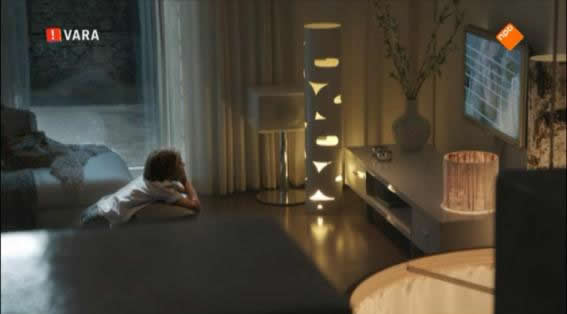 Interior design for television drama series 'Overspel' (Adultry)-O-Shape Steel Floorlamp