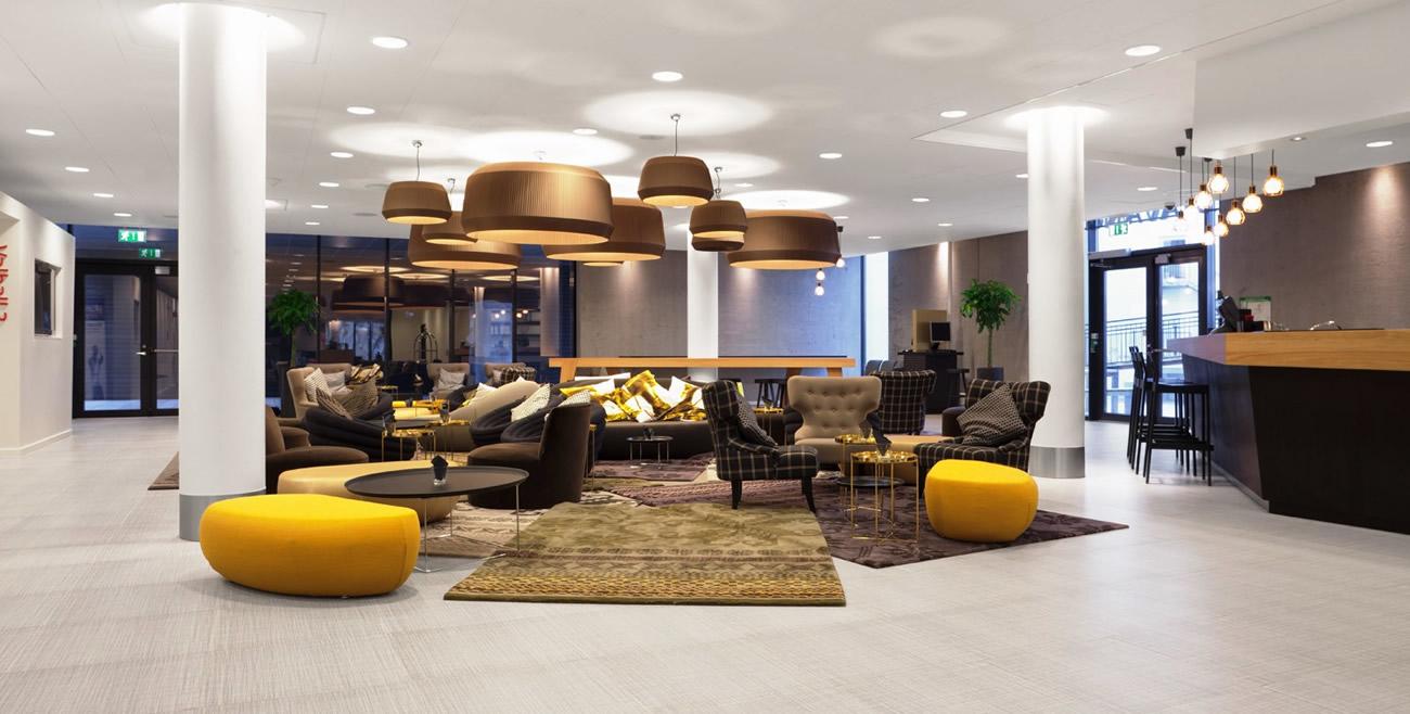 Brunklaus Amsterdam Design Pillows Tin Yello Lounge Hotel Forus Stavanger