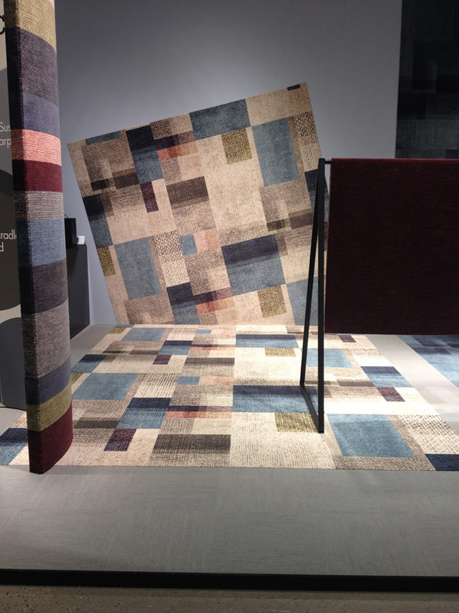Stand-design for Egecarpets with collection Canvas Collage-Stockholm Furniture Fair 2015