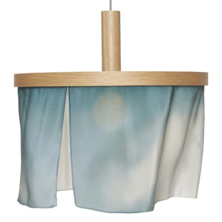 oak and Silk pendant light-light blue
