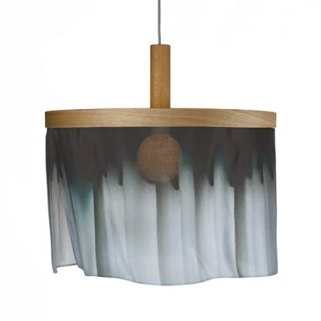 Oak and Silk pendant light curtain