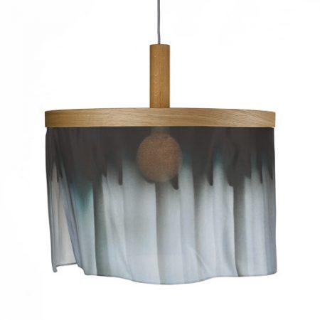 Oak and Silk pendant light curtain