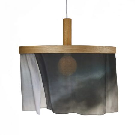 oak and silk pendant light-dark cloud