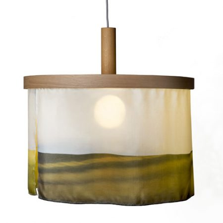 Oak and Silk pendant light abstract yellow