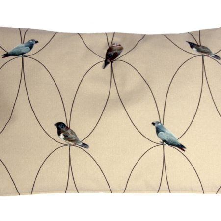 Brunklaus Amsterdam - Pillow 'Birds Beige' 50-35