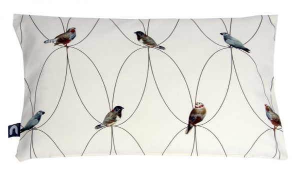 Brunklaus Amsterdam - Pillow 'Birds White' 50-35
