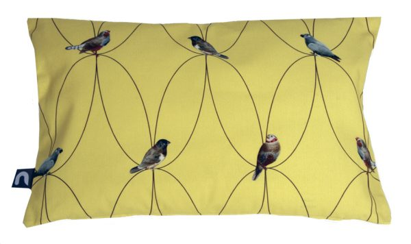 Brunklaus Amsterdam - Pillow 'Birds Yellow' 50-35