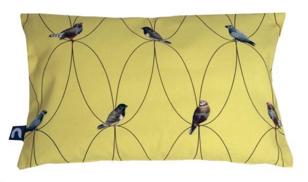 Brunklaus Amsterdam - Pillow 'Birds Yellow' 50-35