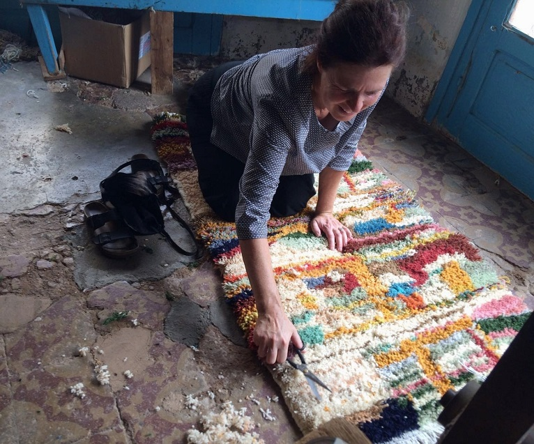 Acoustic tapestries made by hand in Morocco