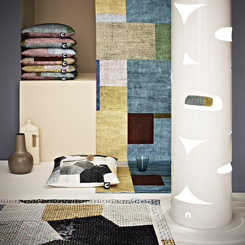 Pillows and fabric with a canvas printed structure