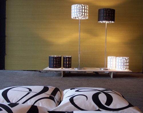 Globall floorlamps and cushions, handmade in the Netherlands