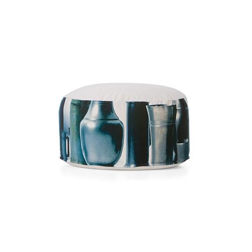 tin pouffe S blue