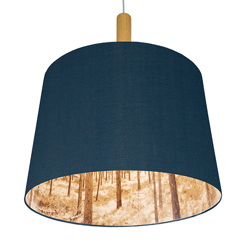 forest blue lamp 55 cm